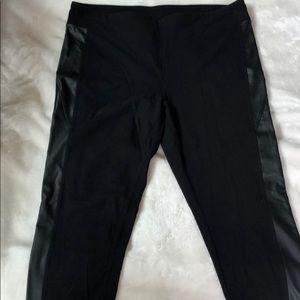 Forever 21 Plus Legging with Leather trim